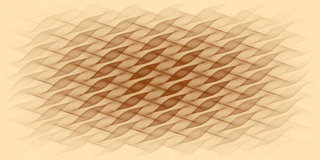 Abstract ecru background with shades of brown stripes - 2D illustration Stock fotó