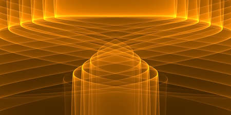Abstract black technology background with shades of orange glowing stripes - 2D illustration Stock fotó