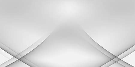 Black and white abstract background - gray stripes on white background - 2D illustration