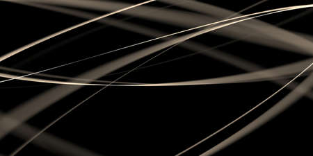 Abstract black background with shades of ecru stripes - 2D illustration