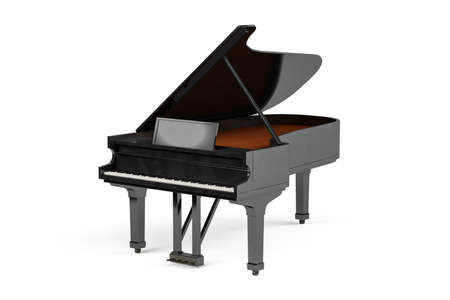 Piano isolated on white background - 3d render
