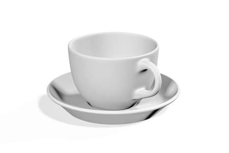 Coffee cup mockup isolated on white background - 3d render