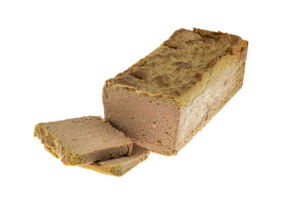Goose pate isolated on a white background