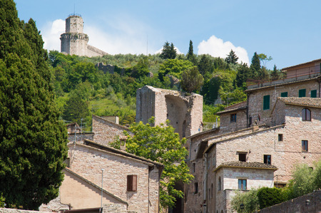 middleages: City of Assisi in Umbria Italy