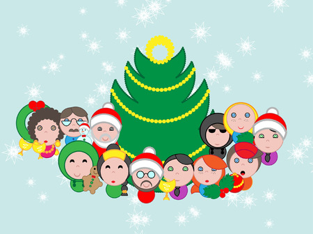 Christmas avatar, mascottes and characters  pack with endless customization possibility
