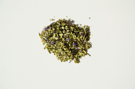 remedial: Mallow herbal tea isolated closeup