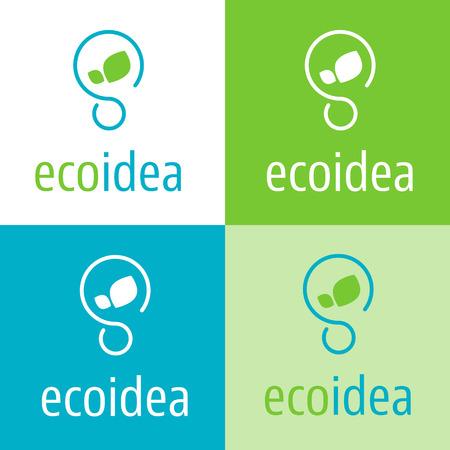 Ecologic idea icon for green economy company Illustration