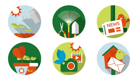 cultivating: Web icon cultivating: flat icons set