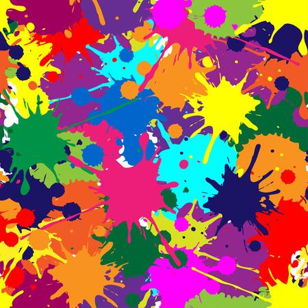 spitting: Illustrator brush texture seamless pattern Illustration