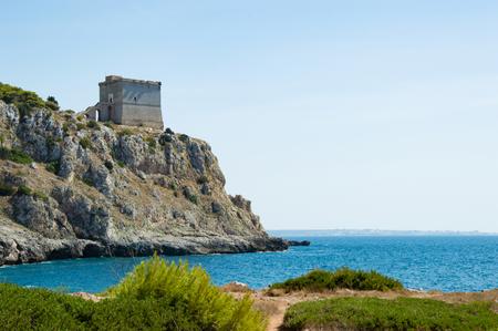 torre: Porto selvaggio In Puglia Italy - Torre Uluzzo closeup
