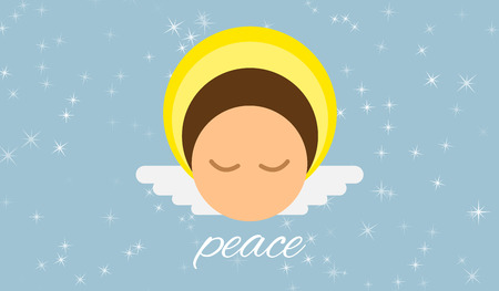 good spirits: Angel for peace on earth and in the world, rounded vector character