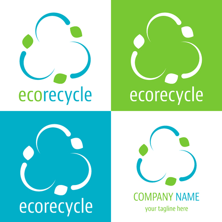green economy: Logo and icon eco recycle for green economy company