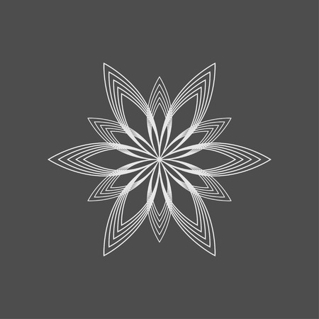 cosmetician: icon with geometric flower for beauty cosmetic and SPA company Illustration