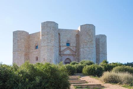 Castel del Monte in Puglia Italy - Octagonal ancient medieval architecture in italian travel