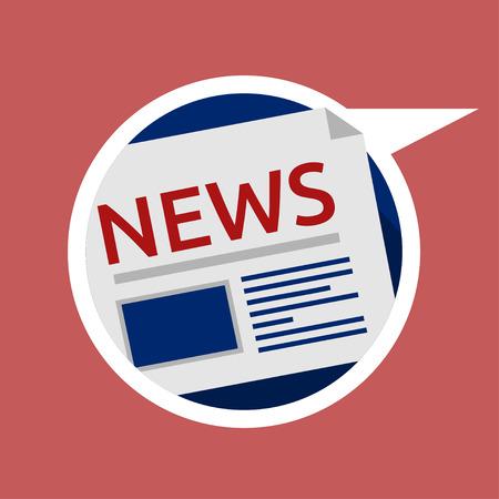 ニュース, 時事通信, 情報の web アイコン  イラスト・ベクター素材