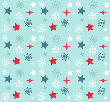 Christmas stars vector colorful seamless pattern