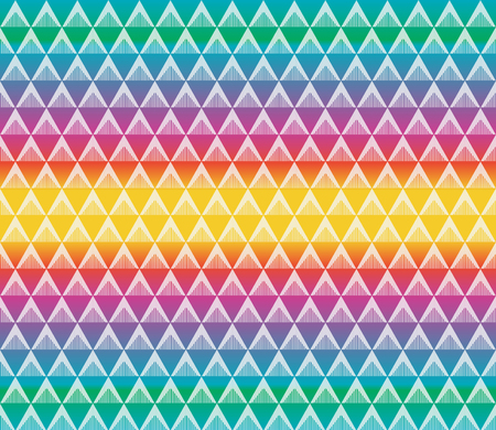 Geometric colorful seamless pattern vector for background and texture