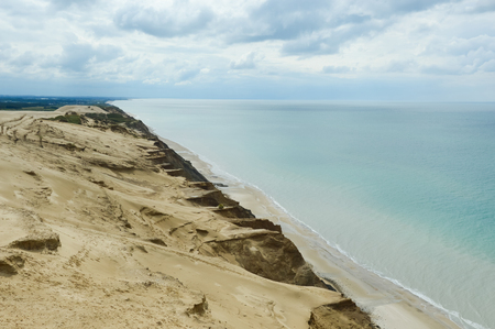 Sand dunes at the danish North Sea coast, Lighthouse Rubjerg Knude, Denmark, Europe
