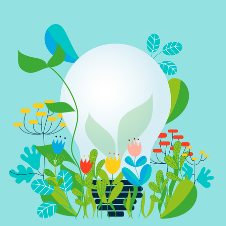 Concept of ecology and ecology - Vector illustration for ecology concept and ecological idea Illustration