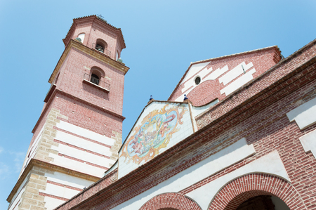 Malaga bell tower in Andalusia Spain Europe travel