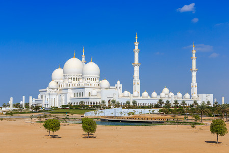 The Grand Mosque in Abu Dhabi from outside