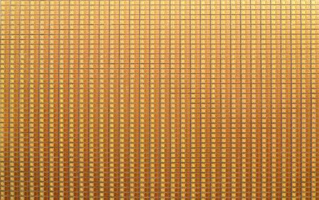 Electronic chips on a silicon wafer