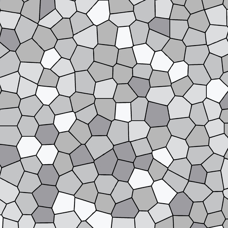 Light gray abstract mosaic seamless pattern. Vector crack background. Endless texture. Ceramic tile fragments. - vector Ilustração