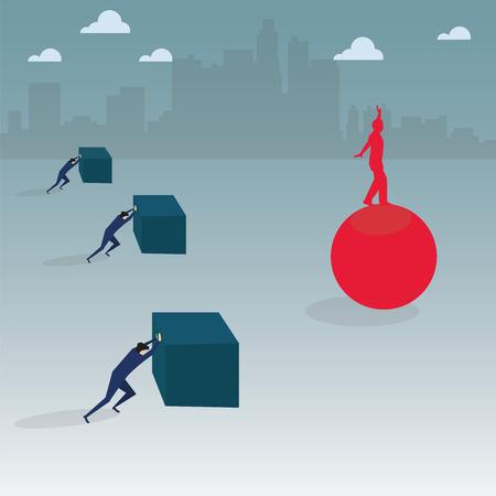 business balance and management Illustration