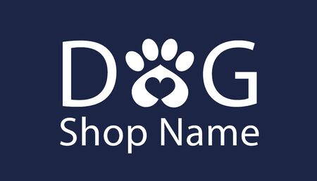 pet Shop dog logo Standard-Bild - 133316211