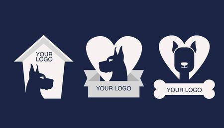pet shop logos Standard-Bild - 133316213