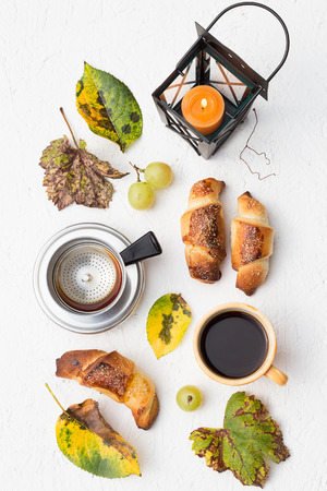 Fall Crescent Rolls and Black Coffee photo