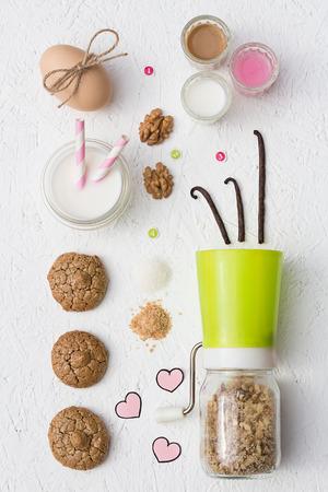 Flourless Walnut Cookies and Milk photo