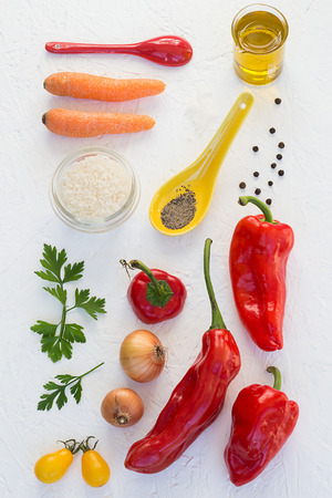 Rice-Stuffed Red Peppers Ingredients photo