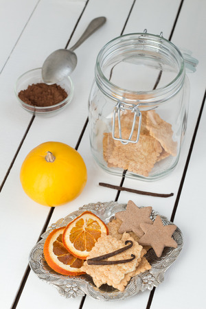 Assorted Cookies and Citrus Fruit Chips photo