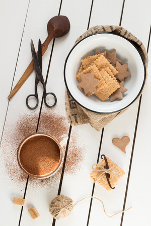 Assorted Cookies and Hot Cocoa photo