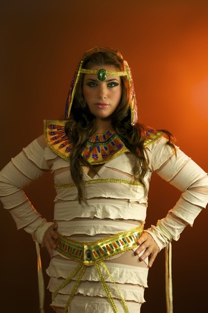 Holloween Portrait Young Egyptian Woman photo