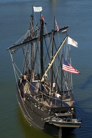 pinta: Replica of Pinta underway. Columbus