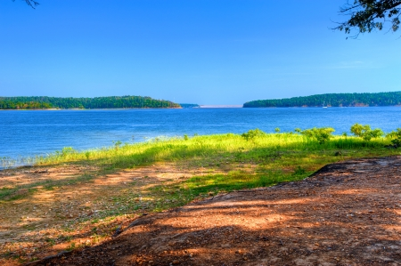 Beautiful Ouachita Mountain Lake Ready for Summer Fun.