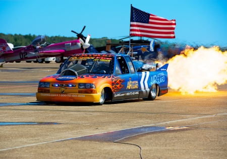 Air National Guard Jet Truck demonstration at an air show at LRAFB in near Little Rock, Arkansas on Sept  9, 2012