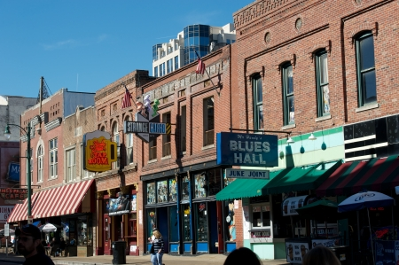 The Famous Beale Street in Memphis, TN