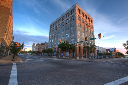 Old Downtown Hattiesburg Mississippi in Early Morning Light