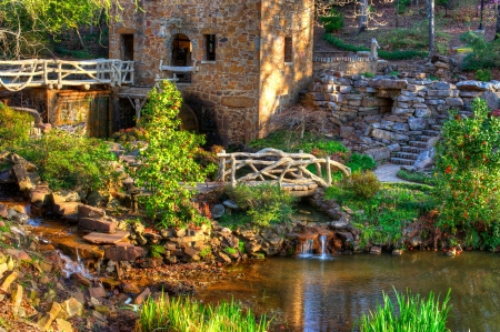 old grist mill: The Old Mill Replica in N. Little Rock, Arkansas Featured in the 1939 movie Gone With the Wind