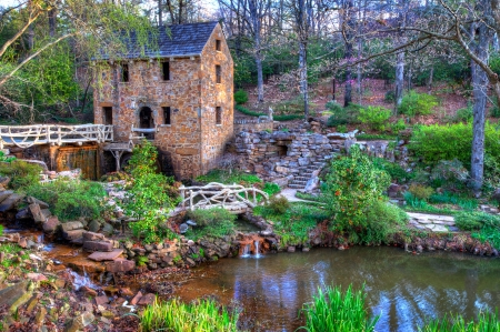 The Old Mill Replica in N. Little Rock, Arkansas Featured in the 1939 movie Gone With the Wind