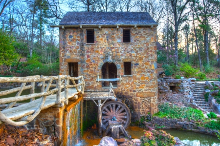 grist mill: The Old Mill Replica in N. Little Rock, Arkansas Featured in the 1939 movie Gone With the Wind