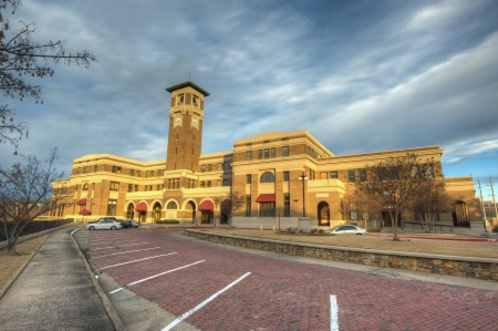 Historic Union Station in Little Rock, Arkansas  Stock Photo