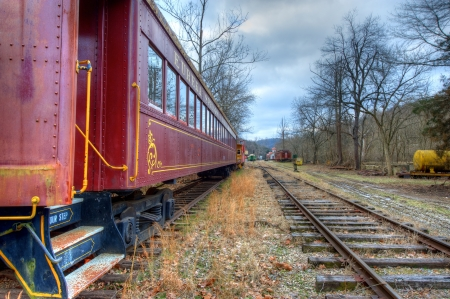 Vintage railroad Passenger car from a bygone era