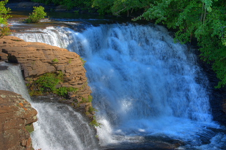 Desoto Falls Alabama in Summer afternoon sun.