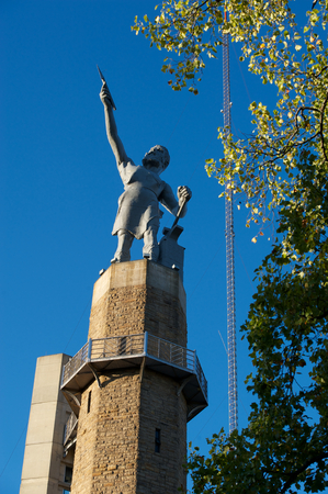 Vulcan, The Roman God of Iron looks over the city of Birmingham, Alabama. Stock Photo