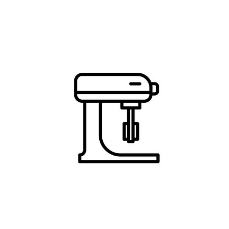 Stand Mixer without bowl icon. Kitchen appliances for cooking Illustration. Simple thin line style symbol.