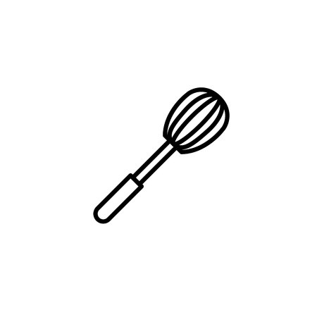 Corolla Whisk icon. Kitchen appliances for cooking Illustration. Simple thin line style symbol.